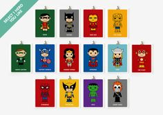 Superhero Themed Boys Room - wall art