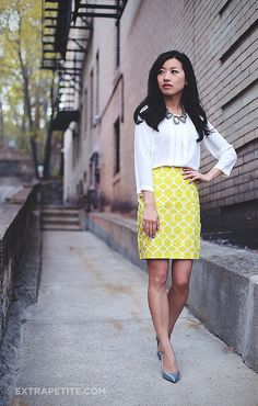 lime DIY skirt silver pumps1 by PetiteAsianGirl, via Flickr