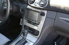 Rebuilt dash for a Pioneer navigation radio in the CLK320 show car.