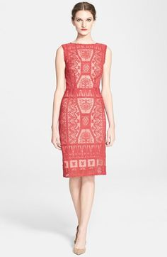 Korovilas 'Estella' Embroidered Lace Sheath Dress available at #Nordstrom