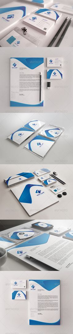 Nou Camp Corporate Identity Package - Stationery Print Templates