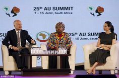 African Union summit: Jolie joined Chairperson of the African Union (AU) Commission Nkosaz...