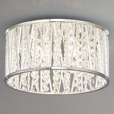 Buy John Lewis Emilia Crystal Drum Flush Ceiling Light Online at johnlewis.com