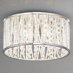Buy John Lewis Emilia Crystal Drum Flush Ceiling Light Online at johnlewis.com