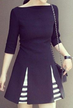 Casual Day Dresses, Nice Dresses, Casual Outfits, Fishtail Dress, Womens Clothing Stores, Korean Women, Women's Fashion Dresses, Half Sleeves, Autumn Winter Fashion