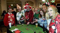 Christmas themed casino night. Casino Night, Christmas Themes, Christmas Sweaters, Fun, Christmas Jumper Dress, Lol, Funny