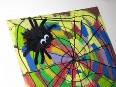 """Das Ergebnis der heutigen """"kreativen Phase"""" ist ein buntes Spinnennetz..."""