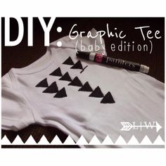 luxe|wise: DIY: graphic tee (baby edition)