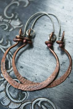 Forged hoops by Deryn Mentock - I always find inspiration in what Deryn creates.