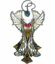 Les Arts Décoratifs - Site officiel - Art nouveau - Pendentif « Sylvia », 1900