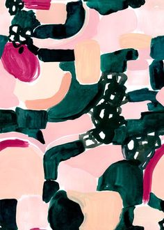 bold and colorful abstract pattern by Cassie Byrnes
