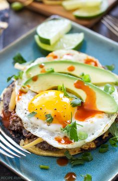 Southwest Breakfast Tostadas - Everything you love about tostadas, but breakfast style with an egg on top!