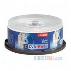 Imation Corp 25PK 4X DVD+RW SPINDLE ( 16867 ) by Imation. $38.70. MODEL- IMN16867           VENDOR- IMATION FEATURES- DVD+RW Disks- 25 Pack Brown box       4x 4.7GB on Spindle.       Imation DVD+RW Discs-the complete solution for your recording and         storage needs. You can store up to 4.7GB of data and video content        for PC and entertainment applications. This equals up to two hours        of high quality MPEG2 DVD video or a combination of both digital         vi...