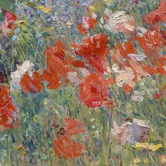 Celia Thaxter's Garden, Isles of Shoals, Maine  (detail)  1890  --  Childe Hassam  --  American  --  Oil on canvas  --  The Metropolitan Museum of Art