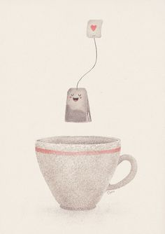 Tea Art Print by Lime | Society6