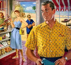 Clothes make the man! ad illustration