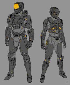 Line test by kairogc on deviantart sci-fi characters дизайн персонажей, диз Character Concept, Character Art, Character Design, Fantasy Armor, Sci Fi Fantasy, Armor Concept, Concept Art, Combat Armor, Futuristic Armour
