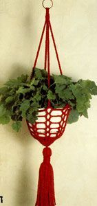 NEW! Crochet Plant Hanger pattern from Gift Ideas & Great Ideas, Leaflet No. 2633.