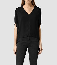 Women's Agave Top (Black) - product_image_alt_text_1