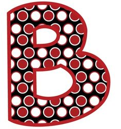 BULLETIN BOARD LETTERS: RED, BLACK, AND WHITE DOTS (CLASSROOM DECOR) - TeachersPayTeachers.com