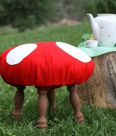 Love these:)   Toadstool Stool Tutorial.    http://dollarstorecrafts.com/2010/07/make-a-toadstool-stool/