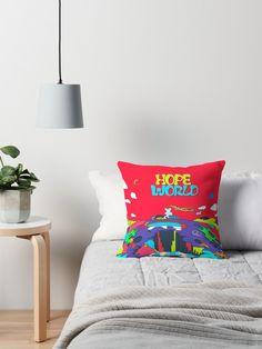 J-Hope Hixtape Hope World Album Art throw pillow at RedBubble