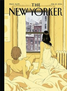 Perfect Storm - The New Yorker Cover, February 2014 Poster Print by Tomer Hanuka at the Condé Nast Collection The New Yorker, New Yorker Covers, Tomer Hanuka, Comics Illustration, Illustrations, Japanese Illustration, Illustration Artists, Digital Illustration, Capas New Yorker