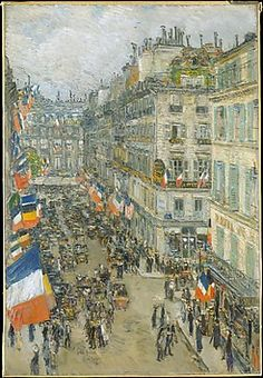 Childe Hassam (American, 1859–1935). July Fourteenth, Rue Daunou, 1910. The Metropolitan Museum of Art, New York. Bequest of the George A. Hearn Fund, (29.86)