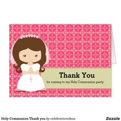 Sold #HolyCommunion Thank you Card #christening Available in different products. Check more at www.zazzle.com/celebrationideas