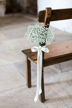 If you're planning on having your wedding in a church, you need to consider the best wedding flowers for your venue. That way, you can add a magical and romantic touch to your special day. You will have an easy time choosing church wedding flowers to. Wedding Chairs, Wedding Table, Rustic Wedding, Wedding Ceremony, Wedding Day, Trendy Wedding, Wedding Tips, Wedding Church, Romantic Diy Wedding Decor