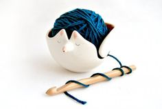 Ceramic Fox Yarn Bow