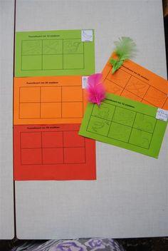 puzzelkaarten - pluim op puzzelkaart als ze vol is