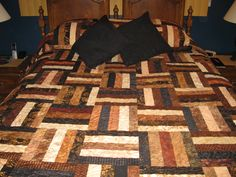 Batik Queen quilt made for my brother, Arnie.