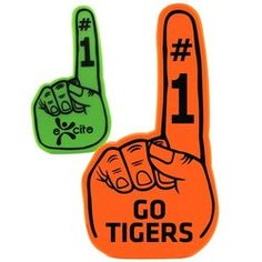 """Want your fans to have a fun way to cheer for your team? This #customized """"14 Foam Hand is sure to liven up a crowd!"""