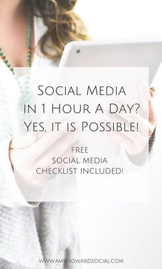 Social media in one hour a day? Yes, it is possible! Follow these steps to streamline your social media and download this FREE social media checklist!.   Find more stuff: dynamicwebmarketingsecrets.com