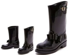 The Bow Rainboots by RED Valentino <3