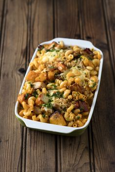 Smoky Bacon Pasta with Chicken and Butternut - simply delicious, sunny flavours the whole family will adore. Easy Pasta Recipes, Cooking Recipes, Bacon Pasta, Chicken Pasta, Chana Masala, Soul Food, Kos, Meals