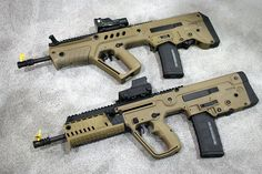 The original Tavor (top) and the new X95 (bottom)