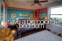might want to do this for my next bedroom after i move... >>At least a room with (a) really big window(s)!! <<