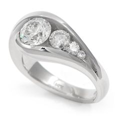 Contemporary Engagement Ring 022517 | Wedding Jewelry - Wixon Jewelers