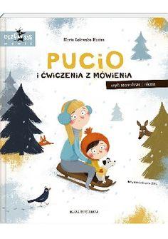 Okładka książki Pucio i ćwiczenia z mówienia, czyli nowe słowa i zdania Family Guy, Baseball Cards, Education, Comics, Books, Kids, Baby, Movie Posters, Fictional Characters