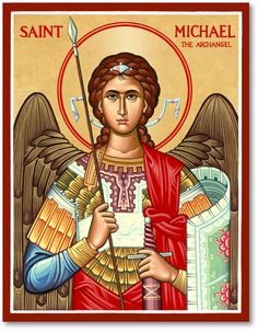Browse the entire collection of Catholic Icons, such as this Saint Michael the Archangel Icon, today at Monastery Icons. St Michael Archangel Prayer, St Michael Prayer, Archangel Prayers, Archangel Gabriel, Saint Michael, St. Michael, Religious Icons, Religious Art, Monastery Icons