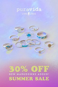 Pura Vida Bracelets, Summer Sale, Sale Items, Rose Gold, Lockets, Gemstones, Sunflowers, Turtles, Sea Glass