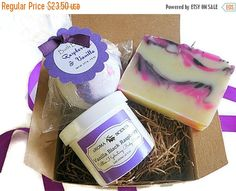 gift set for her vanilla black raspberry gifts by AromaScentsLLC