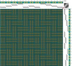 Eileen Hallman | reverse block twill | block substitution on birdseye profile; color & weave treatment | 16-shaft, 16-treadle