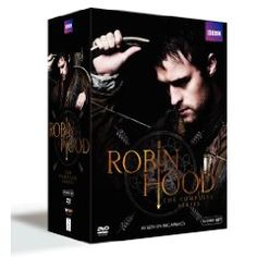 The complete series of the hit Robin Hood. The popular retelling of the Robin Hood legend is back with a hot young cast, and breathtaking archery, incredible swordplay, energy, humor, brute force, and the raw determination to right wrongs. Robin of Locksley returns from serving King Richard in the Crusades to find his home under the oppression of the sadistic Sheriff of Nottingham, and the Sheriff's right hand man Guy of Gisborne has his eye on Robin's childhood sweetheart Marian.