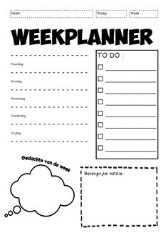 Weekplanner naam bovenaan School Tool, School Hacks, Stress Counseling, Mentor Coach, Visible Learning, Special Educational Needs, Co Teaching, Leader In Me, Bullet Journal Ideas Pages