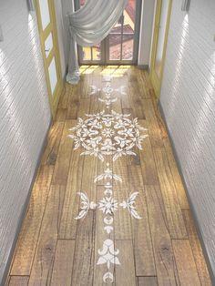 Floor Stencil- Symmetric Mandala Stencil