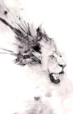 #Lion #Encre #Black