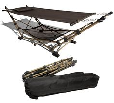 Strathwood Basics Portable Folding Hammock. Where was this when I was in Iraq and Afghanistan? I would have loved to have this back then instead of the old Army issue cot.